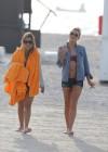 LeAnn Rimes - Wearing bikini top and shorts on Miami Beach -16