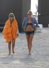 LeAnn Rimes - Wearing bikini top and shorts on Miami Beach -17