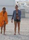 LeAnn Rimes - Wearing bikini top and shorts on Miami Beach -19