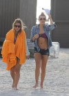LeAnn Rimes - Wearing bikini top and shorts on Miami Beach -20