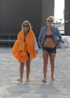 LeAnn Rimes - Wearing bikini top and shorts on Miami Beach -22