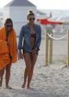 LeAnn Rimes - Wearing bikini top and shorts on Miami Beach -23