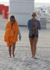 LeAnn Rimes - Wearing bikini top and shorts on Miami Beach -24