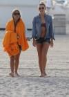 LeAnn Rimes - Wearing bikini top and shorts on Miami Beach -25