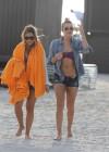 LeAnn Rimes - Wearing bikini top and shorts on Miami Beach -27