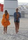 LeAnn Rimes - Wearing bikini top and shorts on Miami Beach -30
