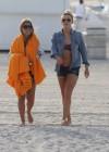 LeAnn Rimes - Wearing bikini top and shorts on Miami Beach -32