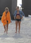 LeAnn Rimes - Wearing bikini top and shorts on Miami Beach -34