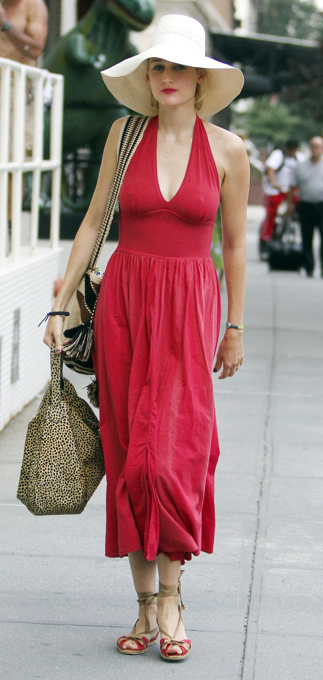 Leelee Sobieski Hot In A Long Red Dress Tribeca Gotceleb