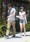 Leighton Meester in denim short shorts out for a breakfast in LA -01