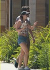 Leighton Meester in denim short shorts out for a breakfast in LA -03