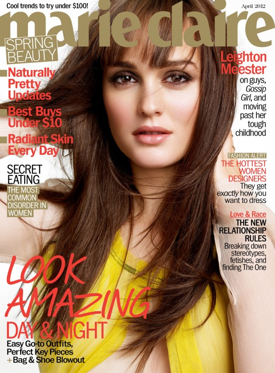 Leighton Meester in Marie Claire Magazine (April 2012)