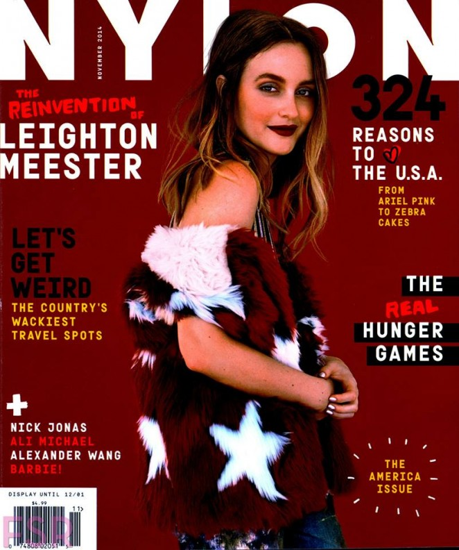 Leighton Meester - Nylon US Magazine (November 2014)