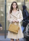 Leighton Meester - On Set of Gossip Girl-14