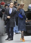 Leighton Meester - On Set of Gossip Girl-16