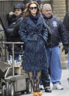 Leighton Meester - On Set of Gossip Girl-17