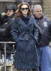 Leighton Meester - On Set of Gossip Girl-19