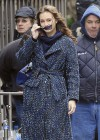 Leighton Meester - On Set of Gossip Girl-21