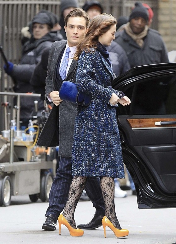 Leighton Meester – On Set of Gossip Girl-22