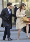 Leighton Meester - On Set of Gossip Girl-23