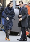 Leighton Meester - On Set of Gossip Girl-25