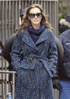 Leighton Meester - On Set of Gossip Girl-29