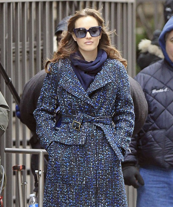 Leighton Meester – On Set of Gossip Girl-29