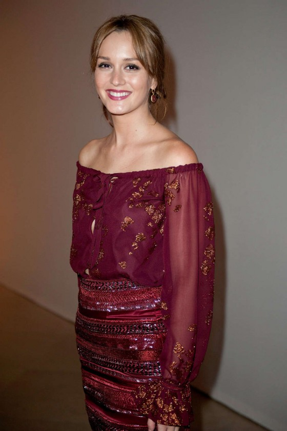Leighton Meester - Salvatore Ferragamo - Cruise Collection 2013 Show in Paris