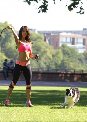 Leilani Dowding in Tight Legging Workout -02
