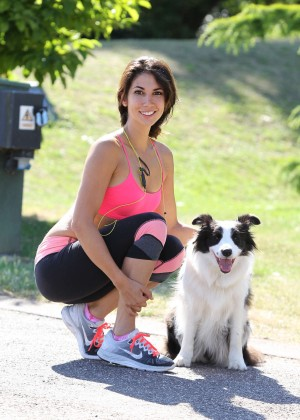 Leilani Dowding in Tight Legging Workout -06