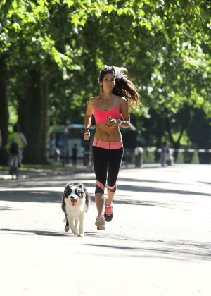 Leilani Dowding in Tight Legging Workout -07