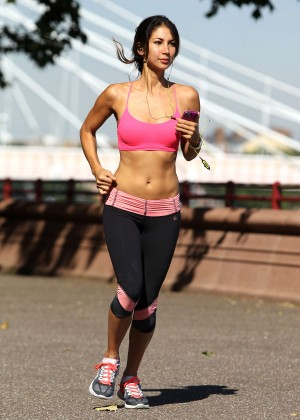 Leilani Dowding in Tight Legging Workout -15