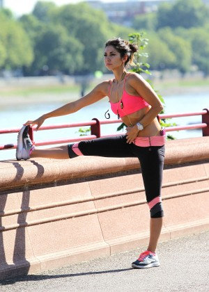 Leilani Dowding in Tight Legging Workout -23