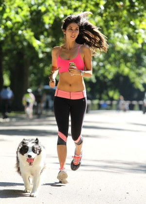Leilani Dowding in Tight Legging Workout -24