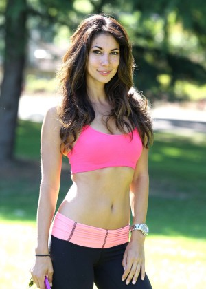Leilani Dowding in Tight Legging Workout -26