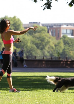 Leilani Dowding in Tight Legging Workout -29