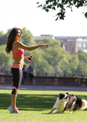 Leilani Dowding in Tight Legging Workout -33