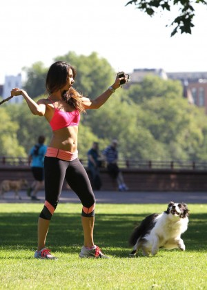 Leilani Dowding in Tight Legging Workout -35