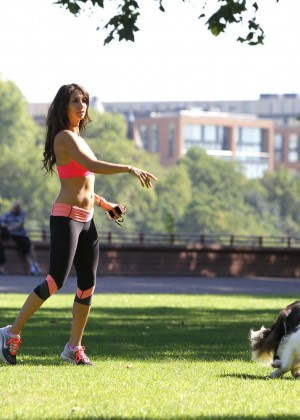 Leilani Dowding in Tight Legging Workout -43