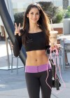 Leilani Dowding in tights candids leaves the gym in West Hollywood