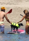 Leilani Dowding in bikini paddleboarding-22