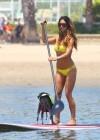 Leilani Dowding in bikini paddleboarding-28