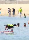 Leilani Dowding in bikini paddleboarding-29