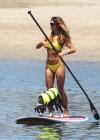 Leilani Dowding in bikini paddleboarding-30