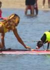 Leilani Dowding in bikini paddleboarding-34