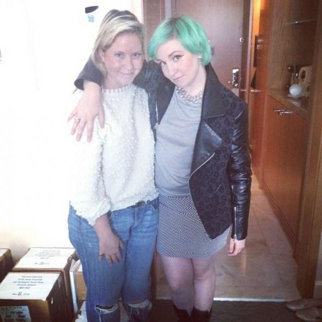 Lena Dunham: Green Hair Candids – Instagram -02