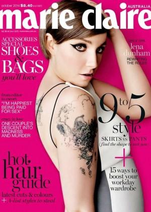 Lena Dunham - Marie Claire Australia Magazine Cover (October 2014)