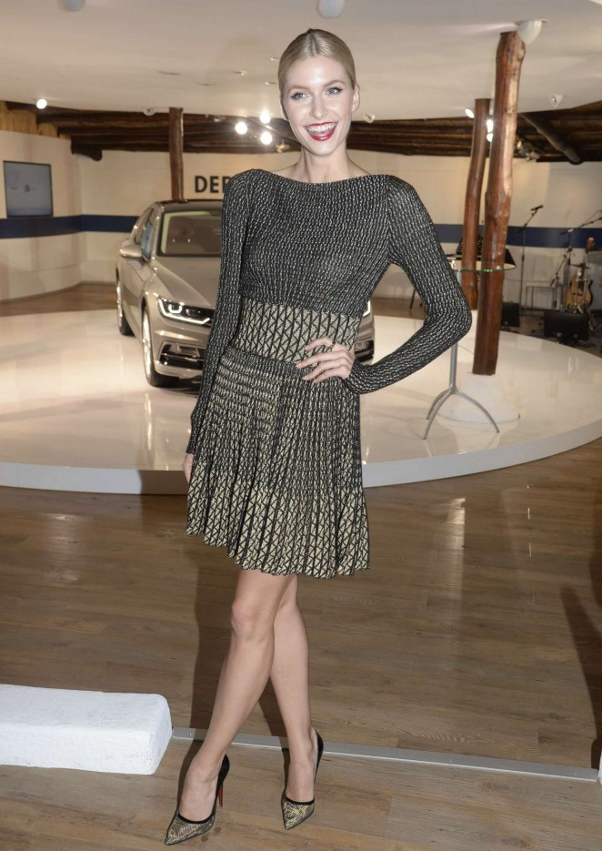 Lena Gercke - Presentation of VW Passat in Sardinia
