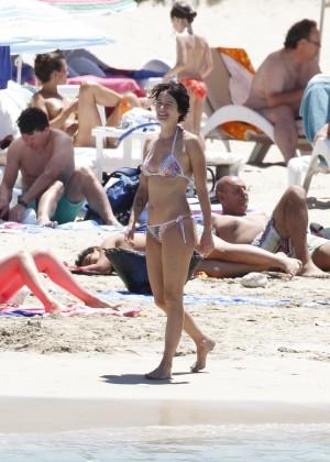 Lena Headey Bikini Photos: at a beach in Ibiza -01