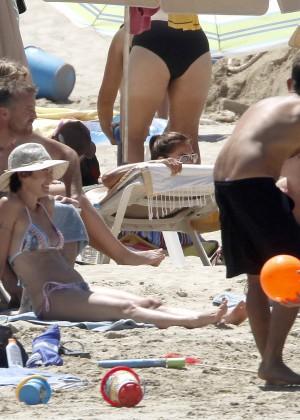 Lena Headey Bikini Photos: at a beach in Ibiza -08